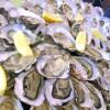フランス西部「ラ・ロシェル」で生牡蠣。 2016/06/02