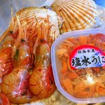 北海道からの贈り物でウニ丼。 2016/11/15